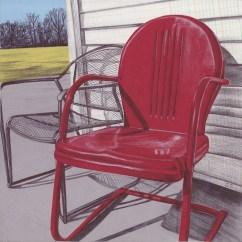 Antique Lawn Chairs Chair Cover Rentals Warner Robins Ga Vintage Metal Visual Hunt Art Print Wall
