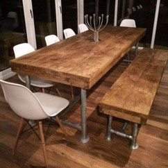 Kitchen Table With Bench And Chairs Remodeling Cabinets Dining Visual Hunt Best 10 Ideas On Pinterest