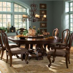 Round Oak Table And 6 Chairs Indoor Wicker Chair Cushions Dining For Visual Hunt Choose Midcityeast
