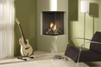 Corner Ventless Gas Fireplace - Visual Hunt