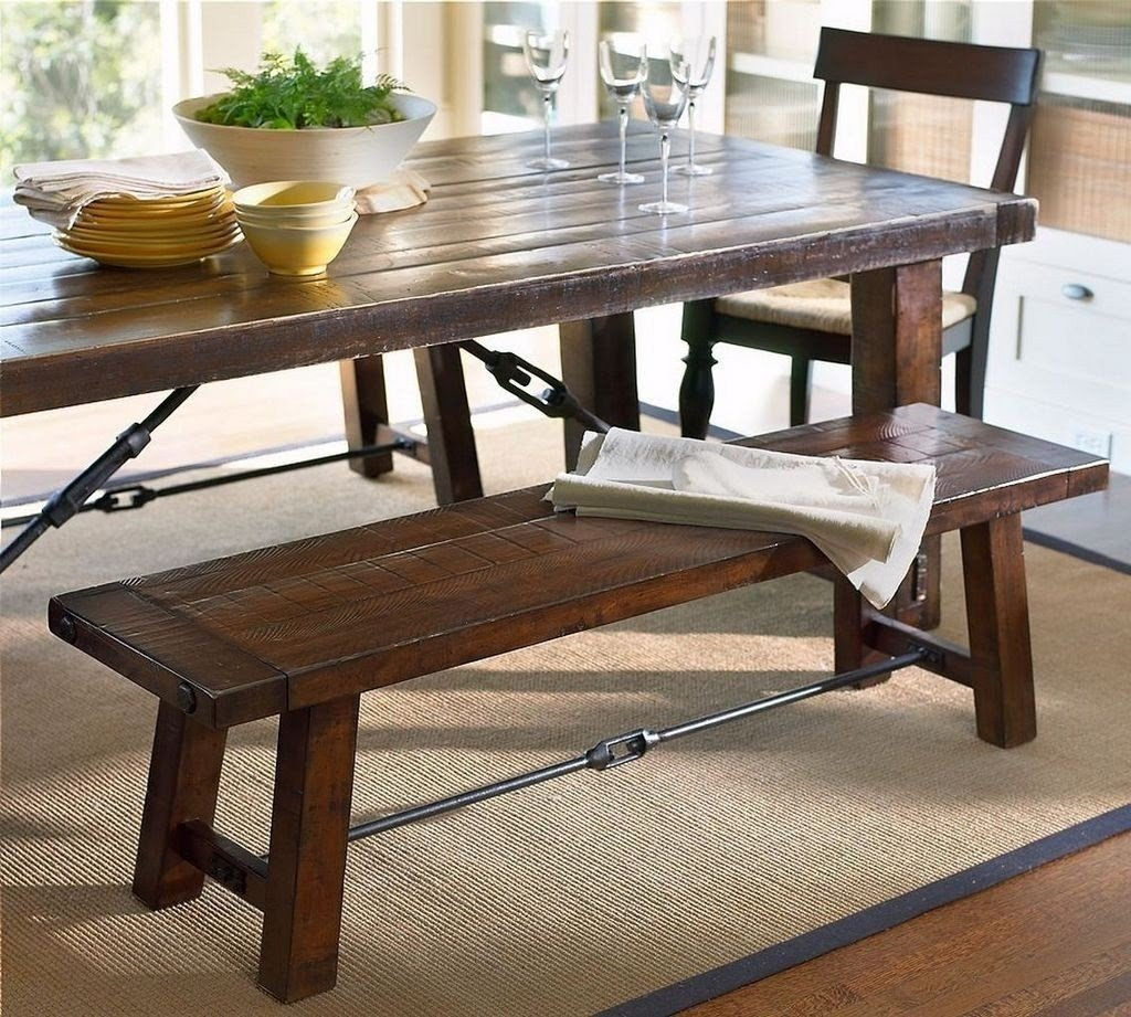 bench for kitchen table design software mac dining with visual hunt counter height rustic solid wood