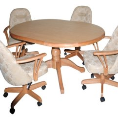 Kitchen Table And Chairs With Wheels Dining World Market Dinette Sets Caster Visual Hunt Custom Room Casters