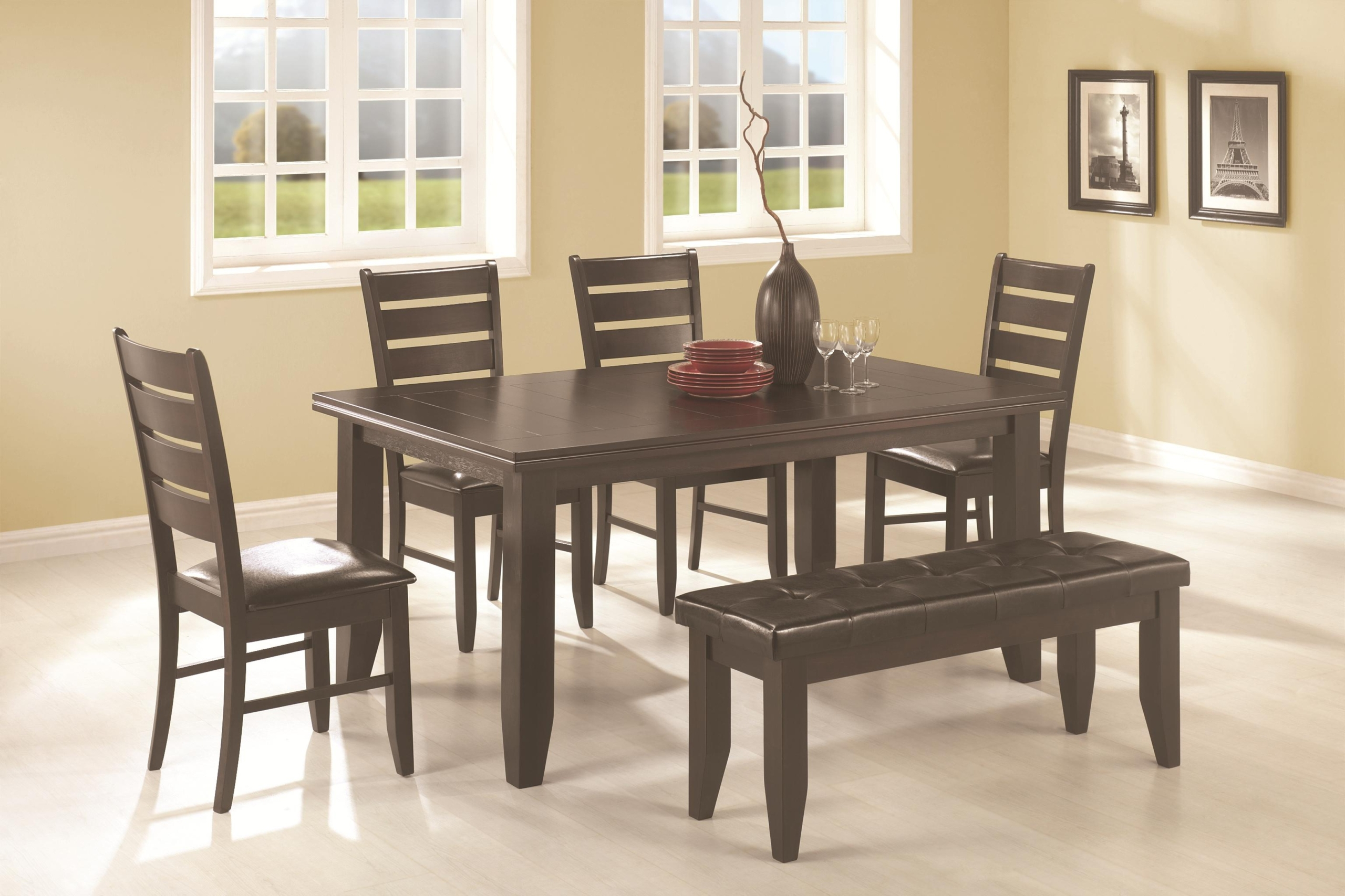 dining set with bench and chairs walmart shower chair table visual hunt