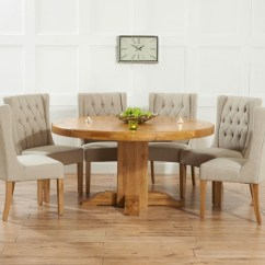 Round Oak Table And 6 Chairs Kitchen Arm Dining For Visual Hunt Home Design