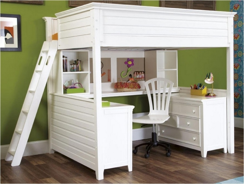 full size loft bed with desk you ll