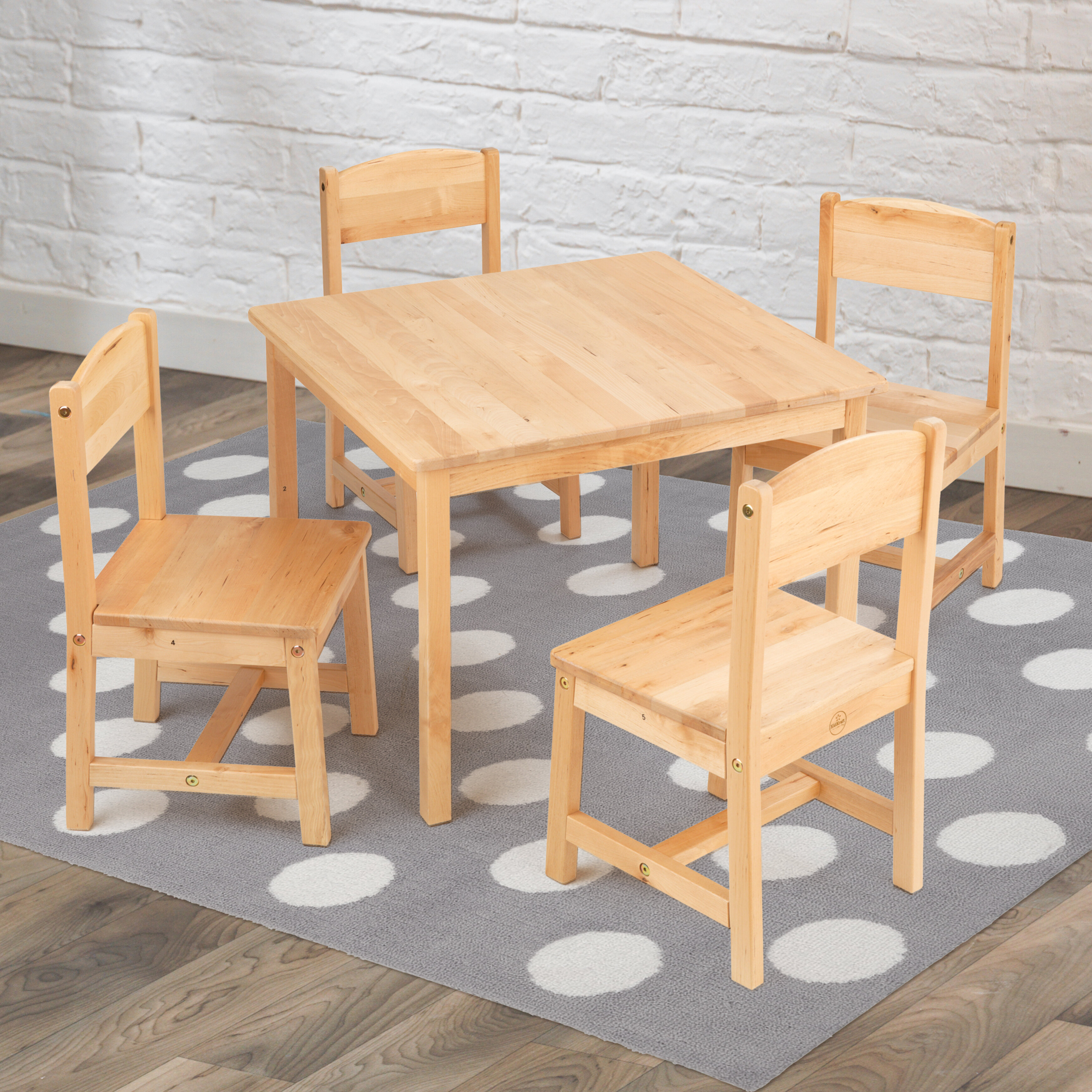 Kids Wood Table And Chairs Montessori Table And Chairs Visual Hunt