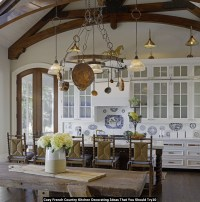 50+ French Country Kitchen Cabinets You'll Love in 2020 ...