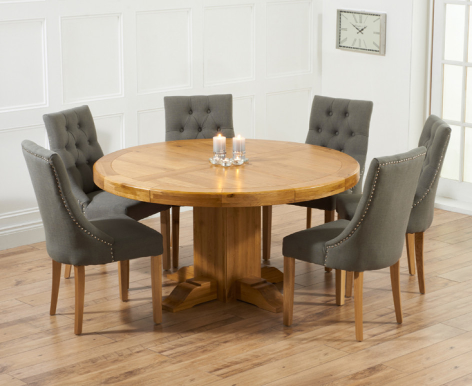 round oak table and 6 chairs indoor chair cushion dining for visual hunt get the best home