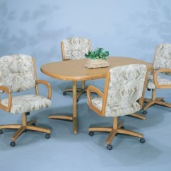 Kitchen Table And Chairs With Wheels Hanging Chair Edmonton Dinette Sets Caster Visual Hunt Astounding Ideas