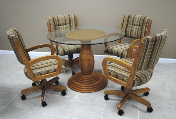 kitchen chairs remodeling companies dinette sets with caster visual hunt rollers