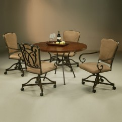 Kitchen Table And Chairs With Wheels Teenage For Bedrooms Dinette Sets Caster Visual Hunt