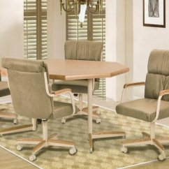 Kitchen Table And Chair Sure Fit Slipcovers A Half Dinette Sets With Caster Chairs Visual Hunt