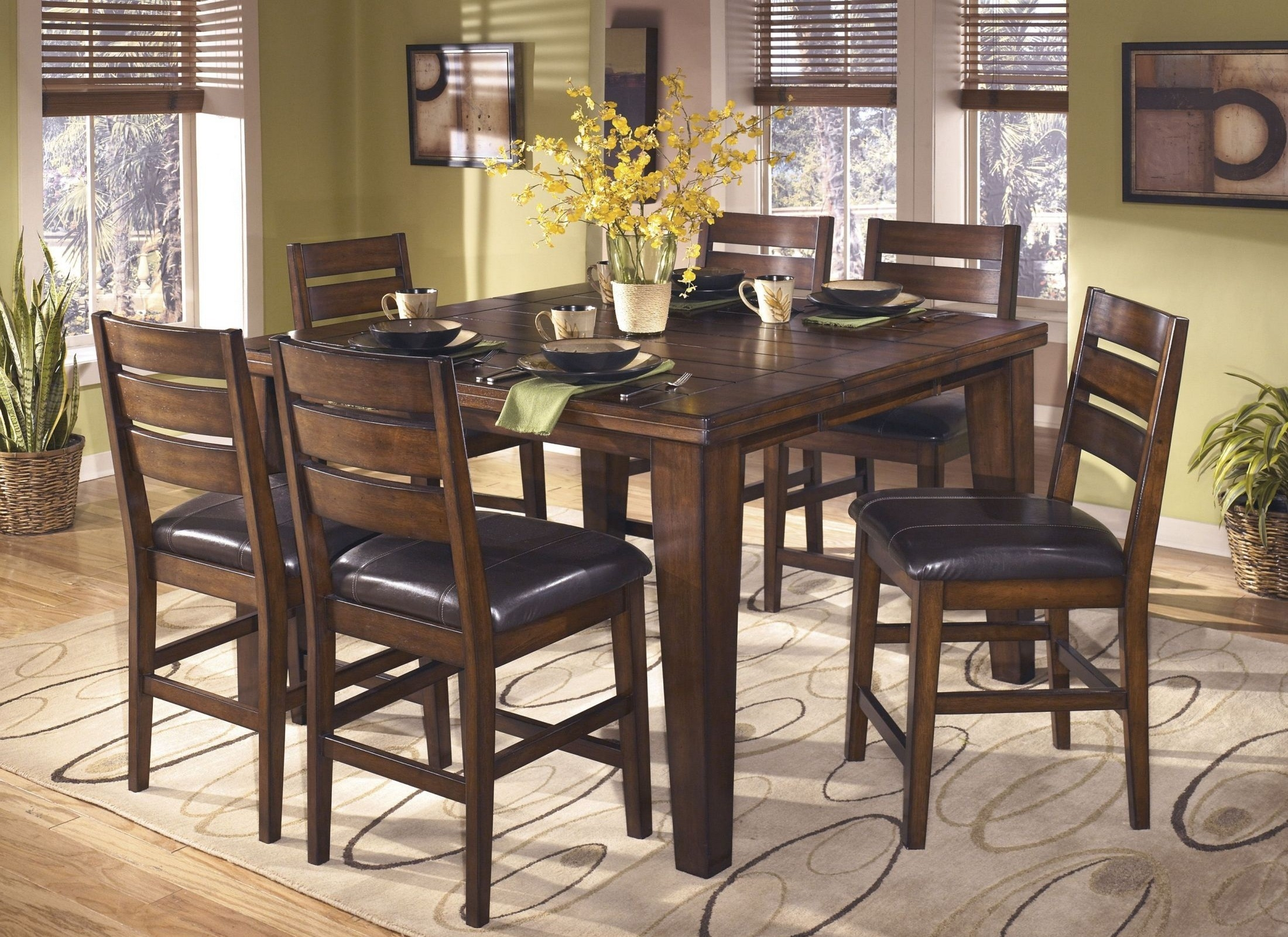 high top table with 6 chairs black chair covers silver sash square dining for visual hunt larchmont counter height and