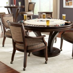 Caster Dining Chairs Plastic Chair Cover Patterns With Casters Visual Hunt Leather