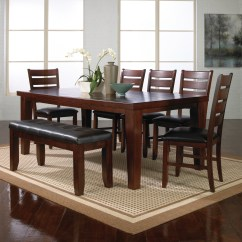 Dining Set With Bench And Chairs Stair Chair Lifts Table Visual Hunt Modern Style Ideas Homesfeed