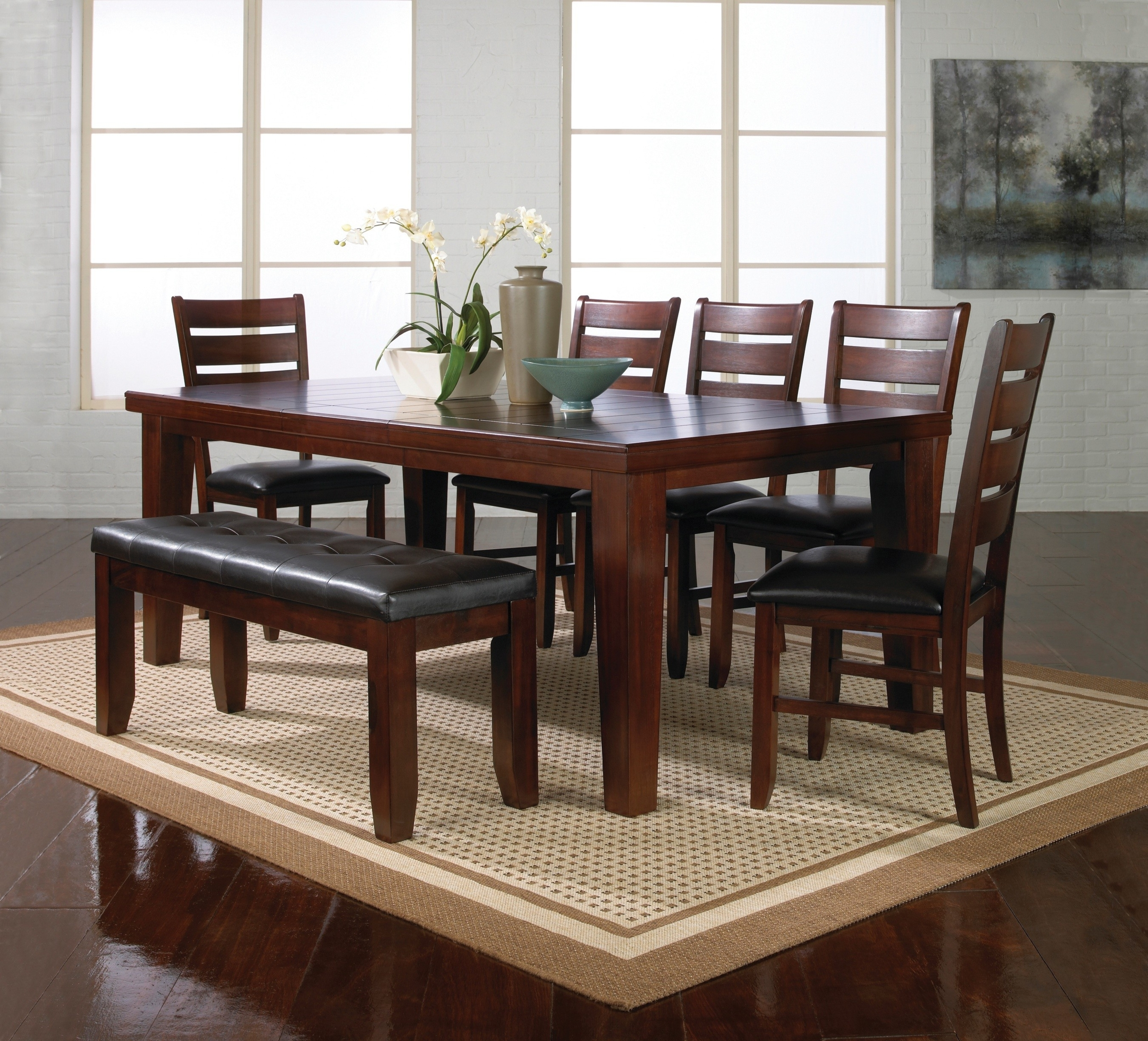 kitchen table set with bench breakfast bars dining visual hunt modern style ideas homesfeed