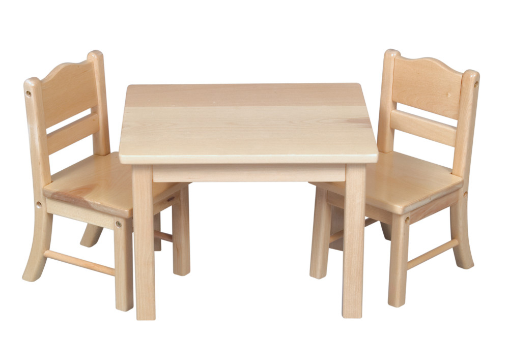 wooden chair with arms for toddler menards outside chairs montessori table and visual hunt materials doll set natural