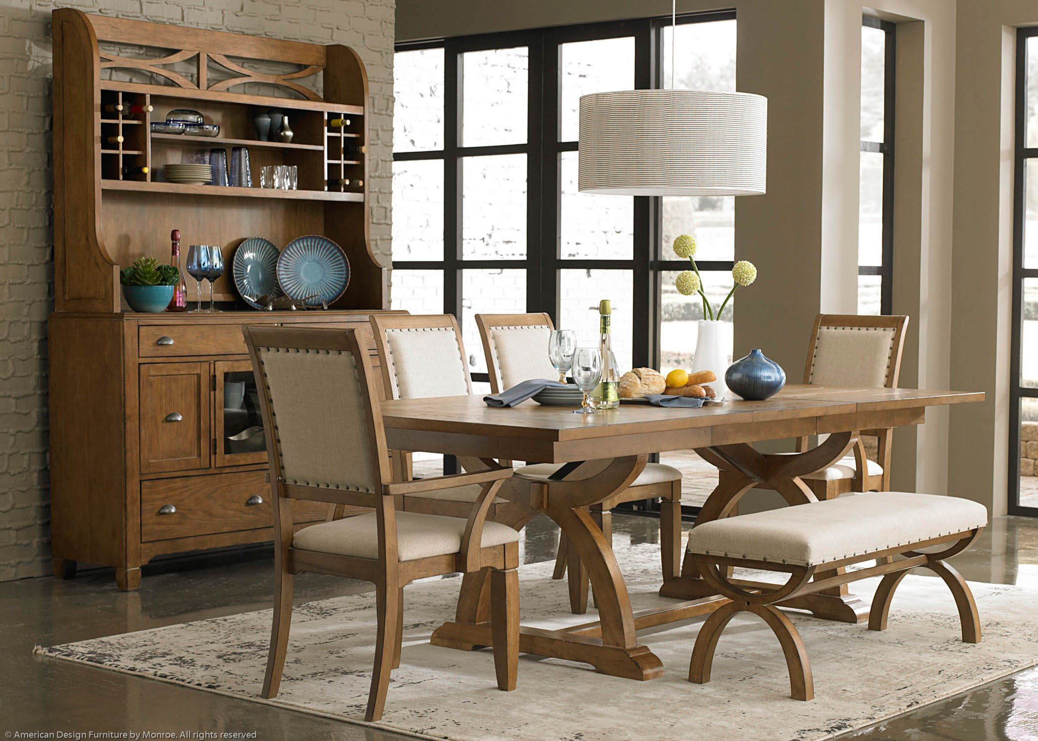 kitchen table with bench and chairs home depot cabinets sale dining visual hunt narrow benches furniture decor
