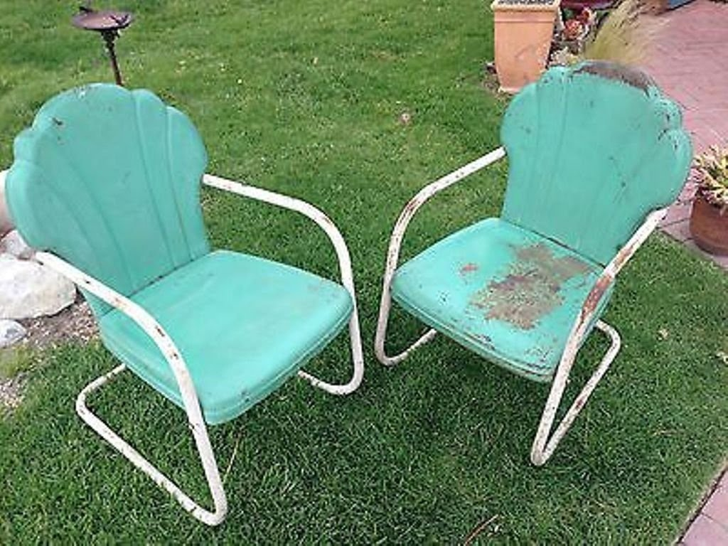 old fashioned metal lawn chairs outdoor glass table and vintage visual hunt retro with armrest