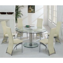 Round Glass Kitchen Table Bar For Small Dining 6 Visual Hunt Wonderful Product Designed