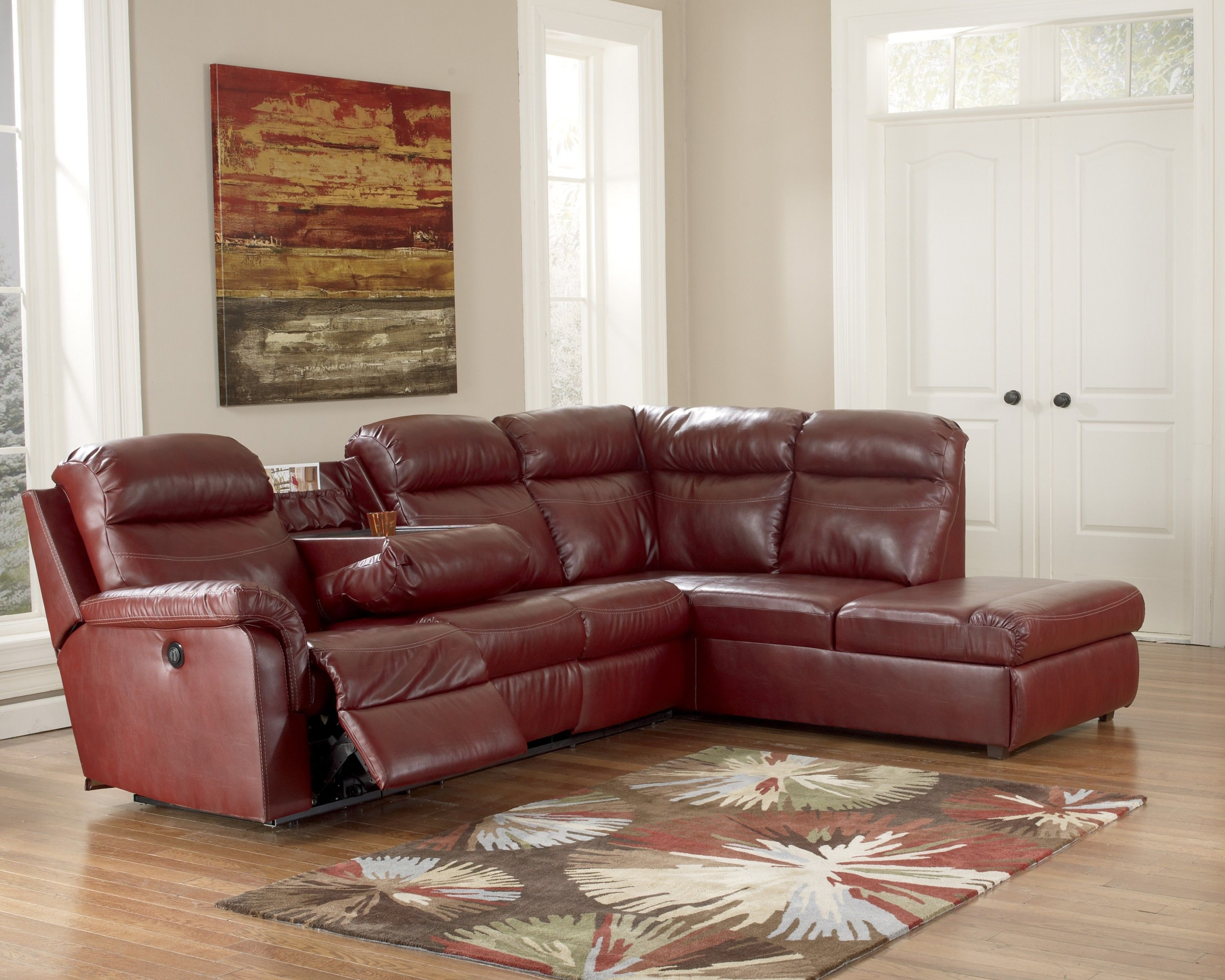 sectional sofas recliners click clack sofa bed reviews small with recliner visual hunt chocolate