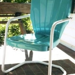 Vintage Lawn Chair Dining Chairs Set Metal Visual Hunt Thunderbird Style Retro 1950 S