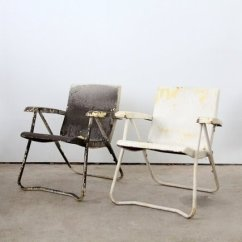 Vintage Lawn Chair Ikea Reclining Metal Chairs Visual Hunt 1950s Folding By 86home
