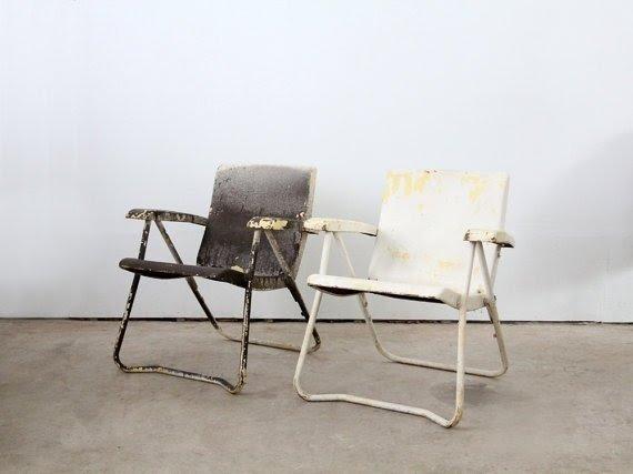 Vintage Metal Lawn Chairs  Visual Hunt