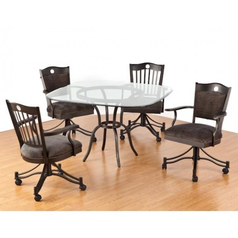 caster dining chairs folding chair racks with casters visual hunt we swivel all design