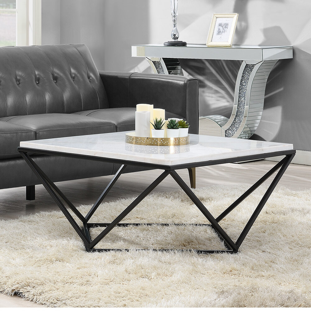faux white marble coffee table you ll