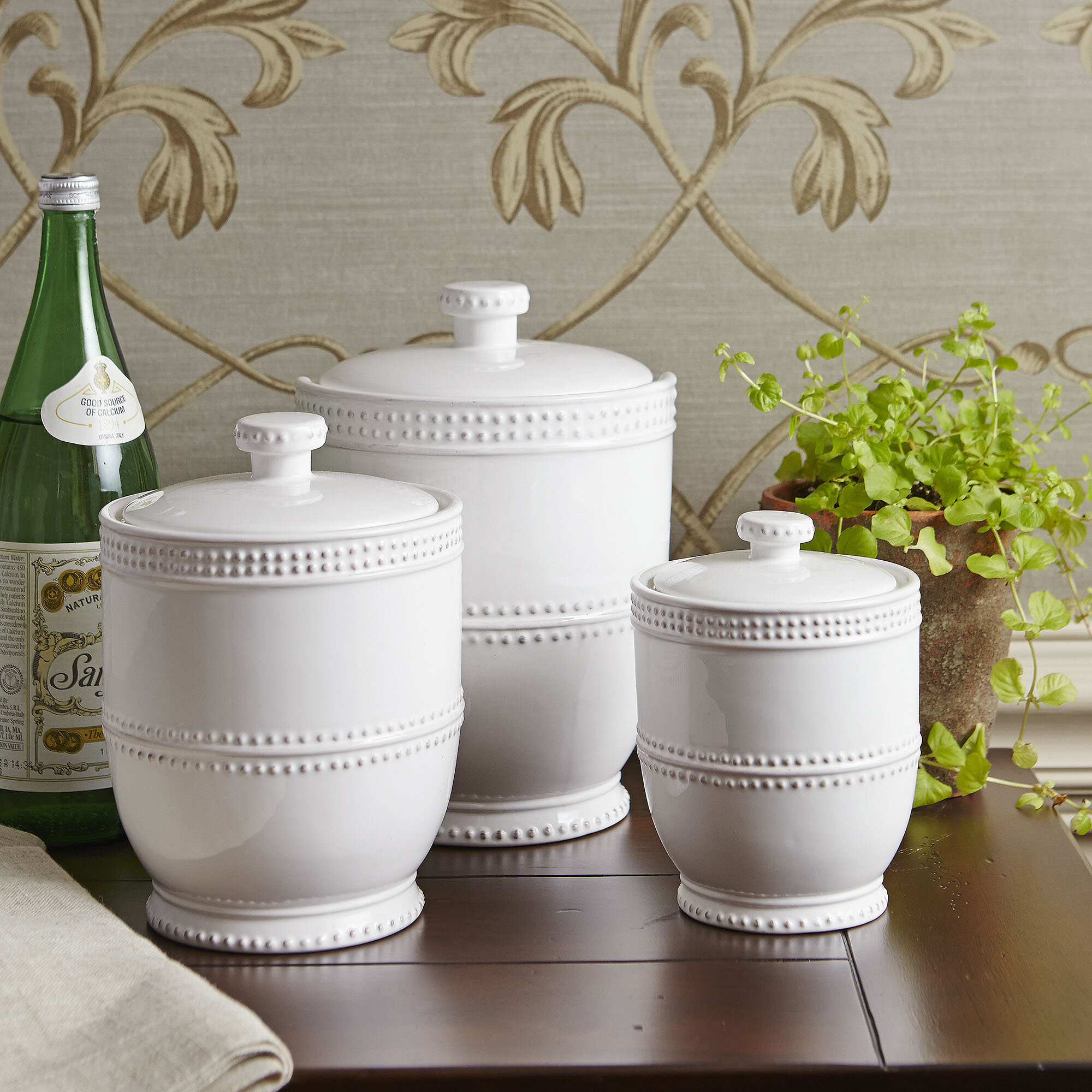 kitchen canister island stools with backs decorative canisters sets visual hunt ceramic three piece set