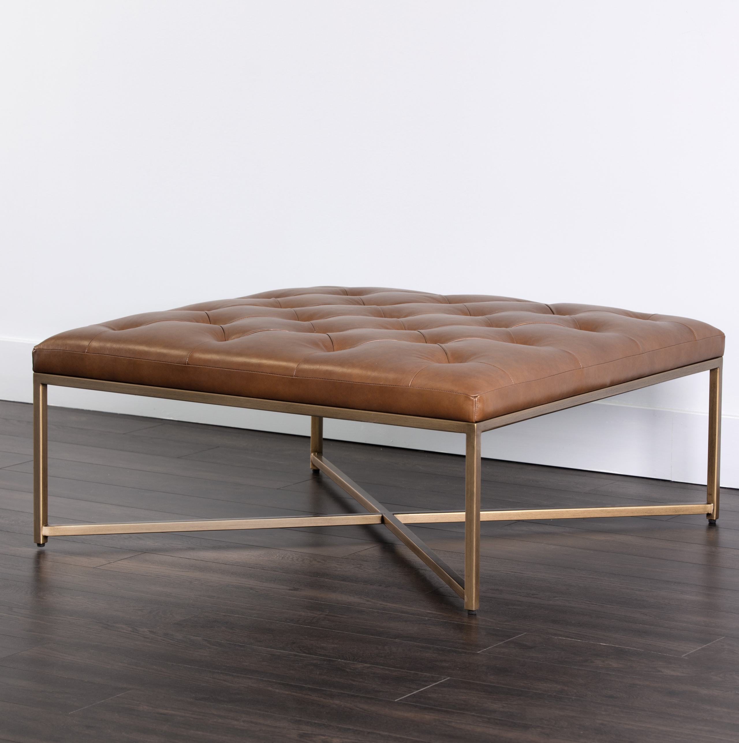 square leather ottoman coffee table you