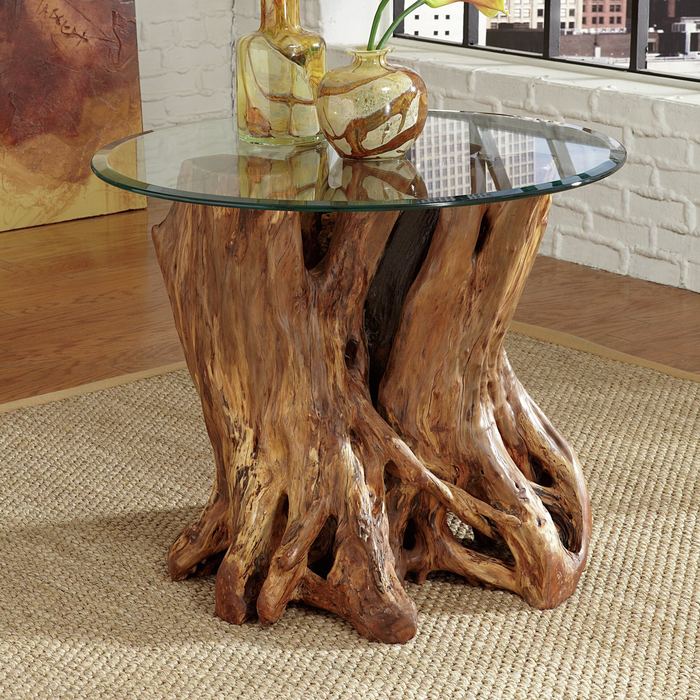 tree trunk coffee table you ll love in