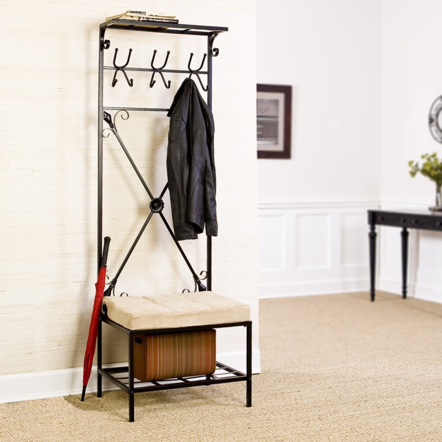 entryway bench and coat rack you ll