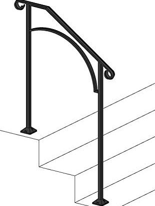 50 Outdoor Metal Stair Railing Kits You Ll Love In 2020 Visual Hunt   Iron Handrails For Outdoor Steps   Antique   Deck   Front Door   Entrance   Ornamental