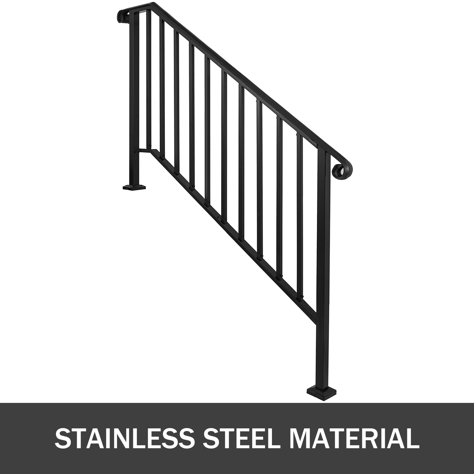 50 Outdoor Metal Stair Railing Kits You Ll Love In 2020 Visual Hunt | Outdoor Iron Stair Railing | Garden | Flat Iron | Decorative | Deck | Rustic