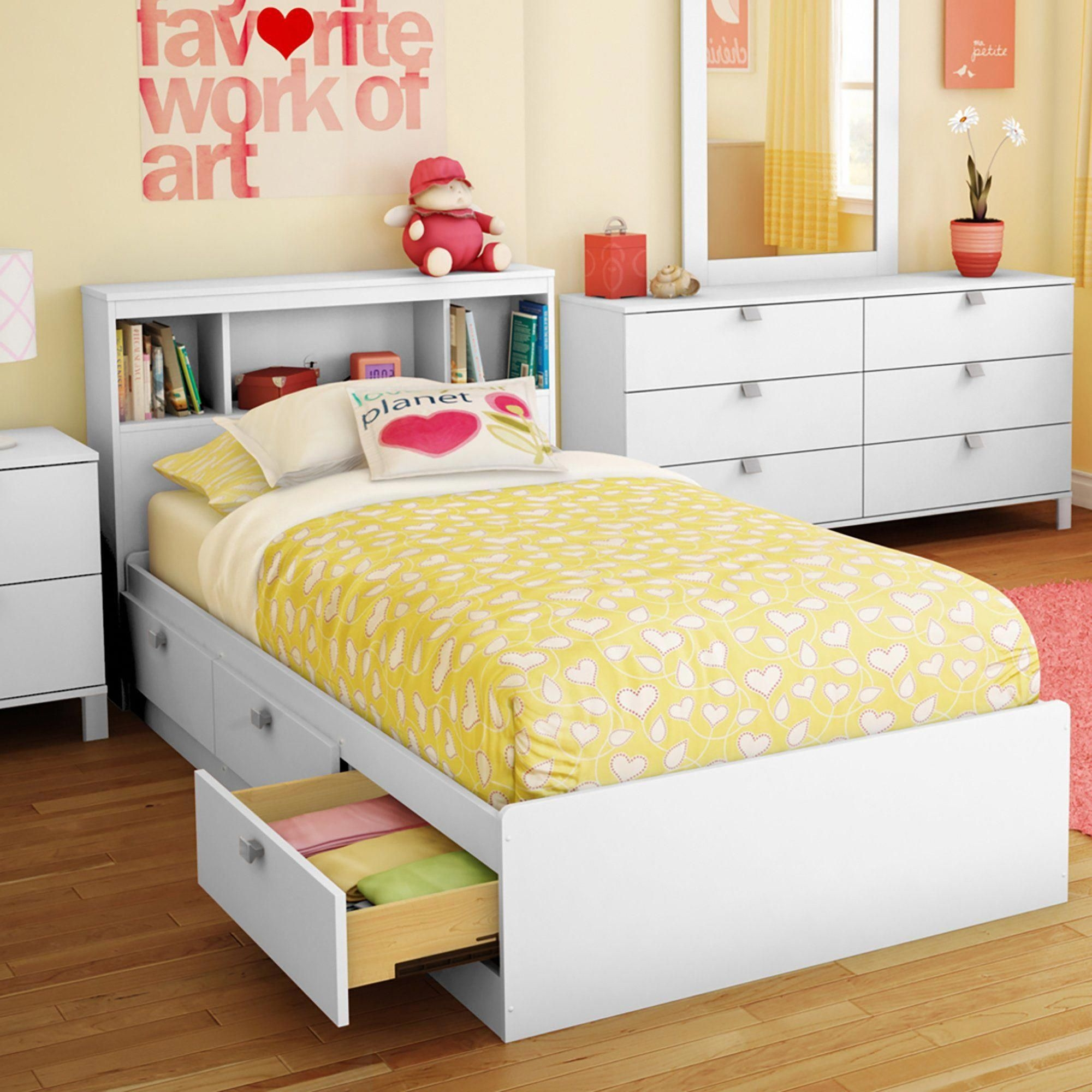 white twin bed with storage you ll love