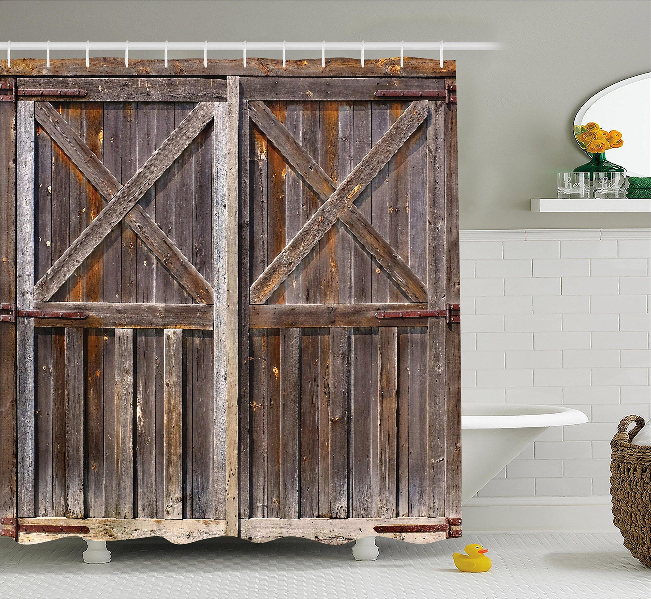 barn door shower curtain you ll love in