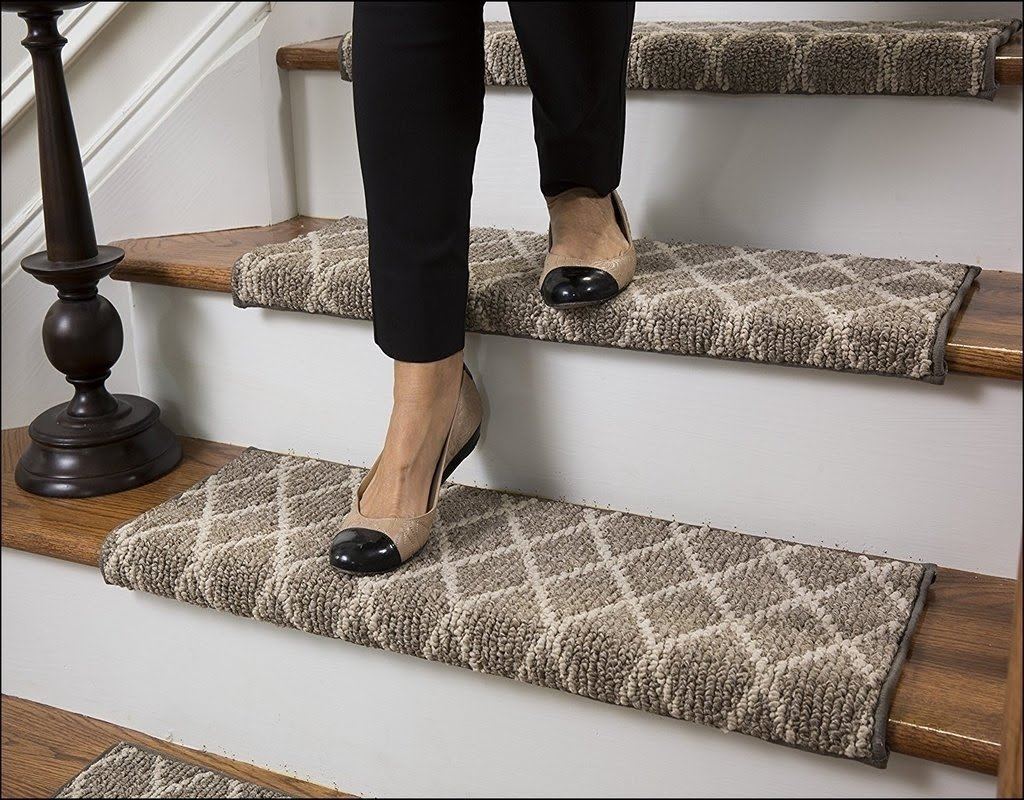 50 Bullnose Carpet Stair Treads You Ll Love In 2020 Visual Hunt | Rustic Carpet Stair Treads | Wood | Mat | Non Slip | Wool | Overstock