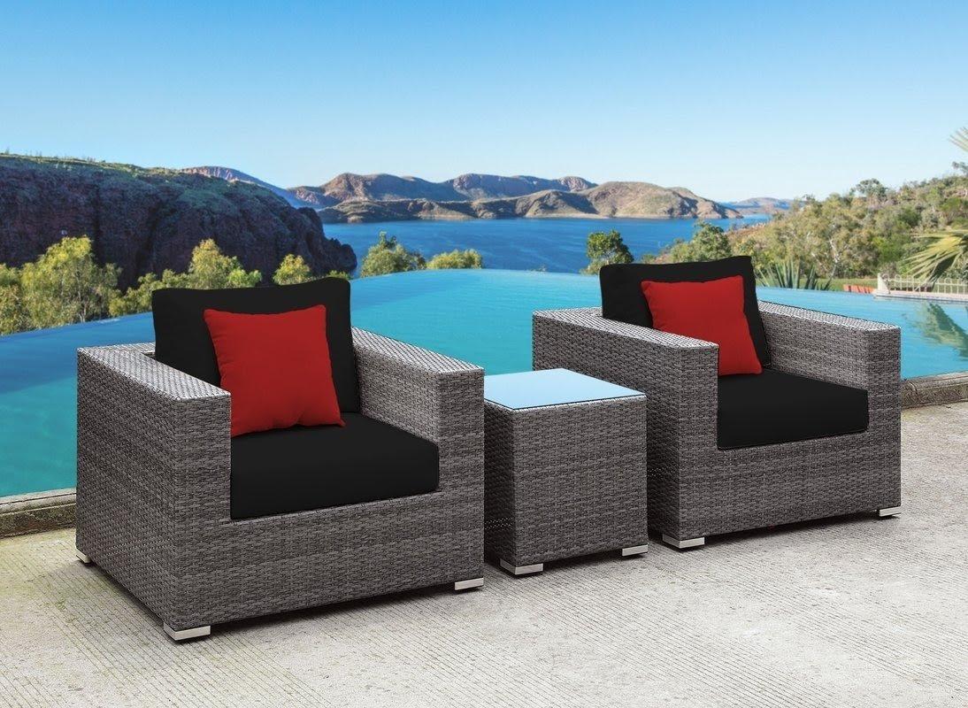 3 piece wicker patio set you ll love in