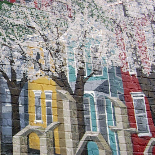 Clifton Heights mural by Jenny Ustick
