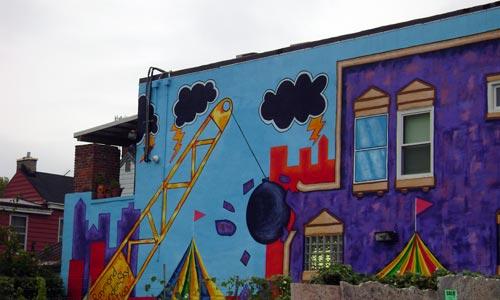 Raymond Thunder-Sky Mural at V&V