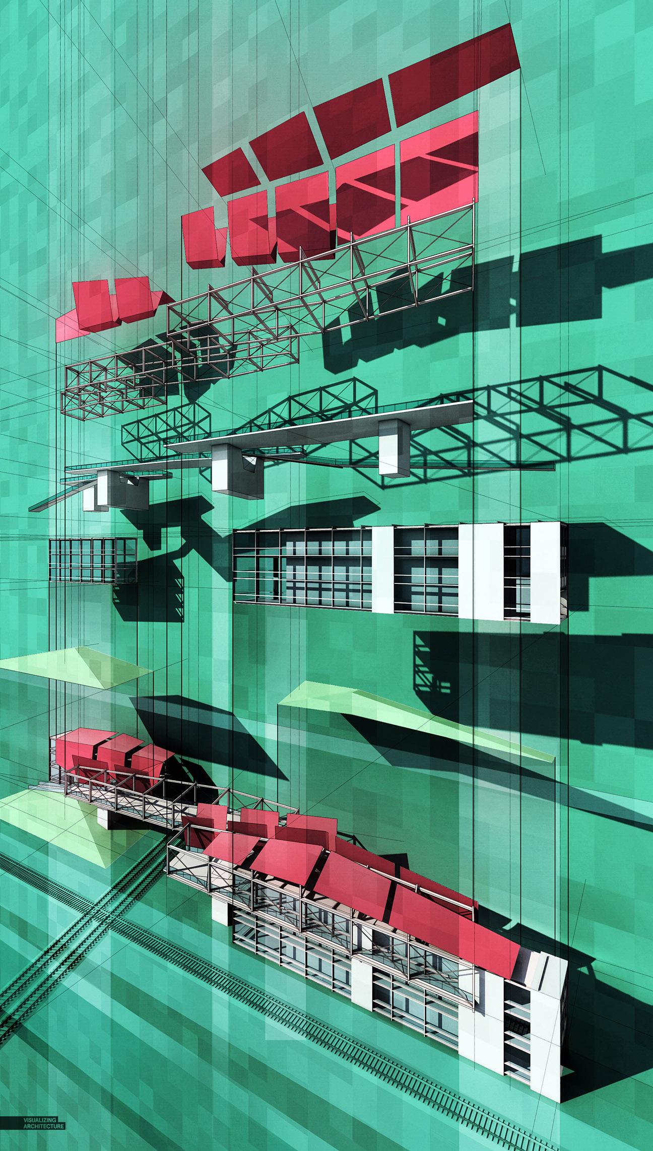 winter in space diagram 2002 mazda tribute engine train pavilion exploded axon | visualizing architecture