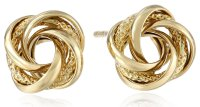 14k Yellow Gold Knot Stud Earrings - Visuall.co