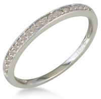 1/10ct Micro Pave Womens Diamond Wedding Band Ring in 10 ...
