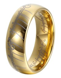 Lightning Deal GER 8mm Gold Tungsten Lord of Rings Wedding ...