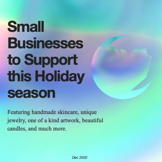 #ShopSmall This Holiday Season With Help From Dark Crystal Moon