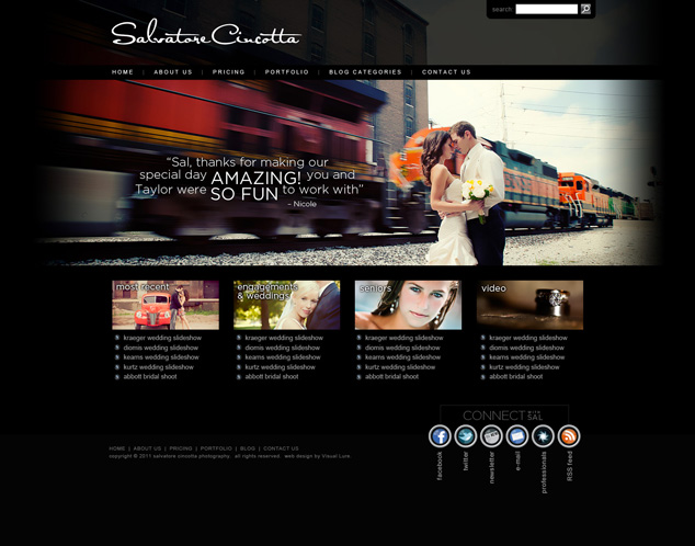 Photographer Web Design Archives  Visual Lure