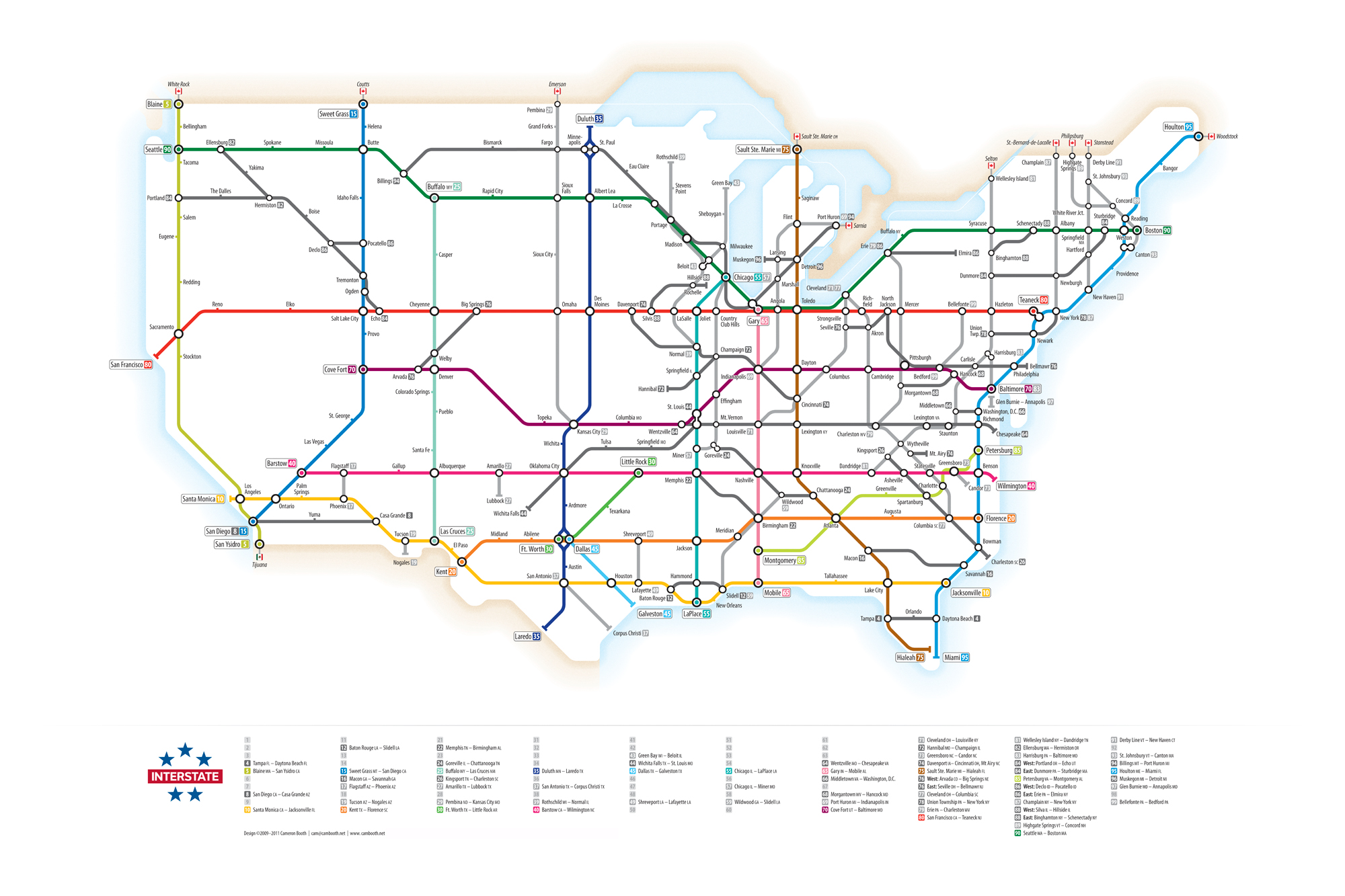 How To Design A Subway Map.Interstate Highway As Metro Information Design At Penn