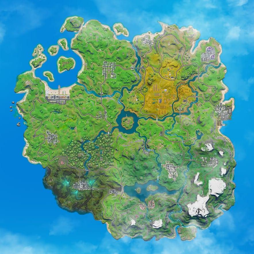 Fortnite: Battle Royale map